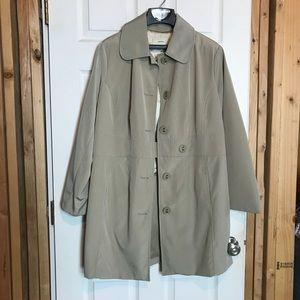 NWOT Merona Trench Coat Beige Women's 16W